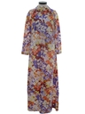 Womens Hippie Hawaiian Maxi Dress