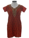 Womens Mini Hippie Dress