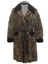 Womens Mod A-line Fur Coat Jacket