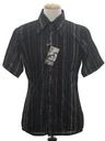 Mens Designer Shiny Print Disco Shirt*