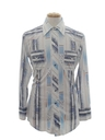 Mens Western Print Disco Shirt