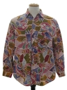 Mens Designer Totally 80s Graphic Print Shirt