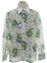 Mens Lace Print Disco Shirt*