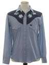 Mens Chambray Western Shirt