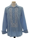 Mens Embroidered Hippie Shirt