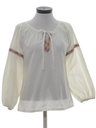 Womens Embroidered Hippie Poet Shirt