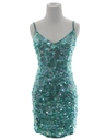 Womens Totally 80s Sequined Wiggle Cocktail Mini Dress