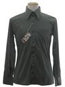 Mens Designer Shiny Nylon Polka Dot Print Disco Shirt*