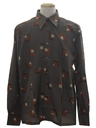 Mens Designer Geometric Print Disco Shirt*