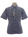 Mens Designer Shiny Print Disco Shirt*