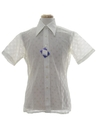 Mens Solid Lace Disco Shirt*