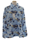 Mens Designer Art Print Disco Shirt*