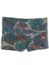Mens Totally 80s Hawaiian Surf Shorts