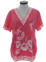Womens Hawaiian Hippie Tunic Shirt