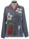 Womens Hippie Chambray Shirt