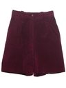 Womens Suede Leather Shorts