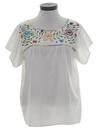Womens Embroidered Hippie Shirt