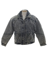 Mens Totally 80s Acid Washed Denim Coat Jacket