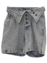 Womens Wicked 90s Denim Acid Wash Shorts