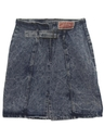 Womens Wicked 90s Acid Washed Denim Skirt