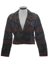 Womens Egyptian Print Coat Jacket