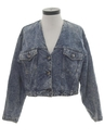 Womens Levis Totally 80s Stone Wash Denim Jacket Coat