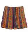 Womens Wicked 90s Print Baggy Shorts