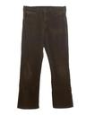Mens Corduroy Flared Jeans Cut Pants