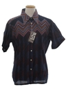 Mens Designer Geometric Disco Style Print Shirt*