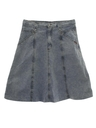 Womens Wicked 90s Stone Washed Denim Skirt