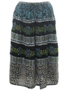 Womens Broomstick Style Hippie Skirt