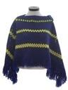 Womens Crocheted Poncho Sweater