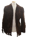 Mens Suede Fringed Hippie Coat Jacket
