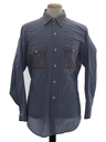 Mens Chambray Hippie Shirt