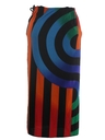 Womens Totally 80s Wrap Skirt