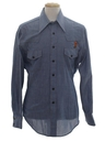 Mens Chambray Hippie Westenr Shirt