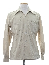 Mens Knit Solid Disco Shirt