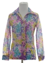 Womens or Girls Mod Pow-Flower Shirt