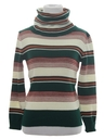 Womens or Girls Mod Knit Turtleneck Shirt