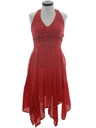 Womens Hippie Halter Dress
