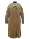 Womens Suede Leather Duster Coat Jacket