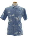 Mens Nautical Hawaiian Shirt