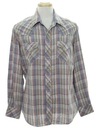 Mens Plaid Western Shirt