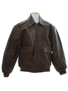 Mens Leather Flight Jacket