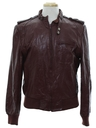 Mens Totally 80s Members Only Style Leather Jacket