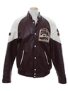 Mens Leather Letterman Jacket