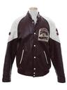 Mens Leather Letterman Jacket