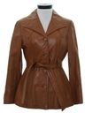 Womens Leather Coat Jacket