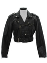 Womens Totally 80s Leather Motorcycle Jacket