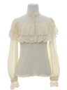 Womens Ruffled Hippie Shirt